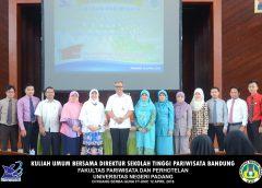 Kuliah Umum Bersama Direktur Sekolah Tinggi Pariwisata Bandung