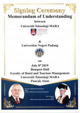 Signing Ceremony Memorandum of Understanding between Universiti Teknologi MARA & Universiti Negeri Padang